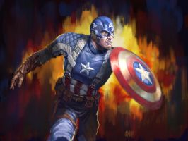 13 NoH Day 8, Captain America by Grimbro