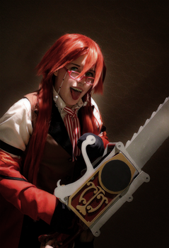 Kuroshitsuji Grell Cosplay: Stranger in an alley by BloodlustDetox