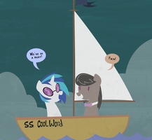 Tavi and Vinyl Shipping *immature* by professor-ponyarity