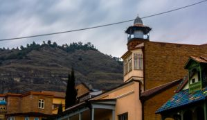A mosque in Tbilisi by psy-infest
