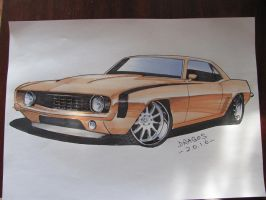 Camaro Sketch by jimmynerd