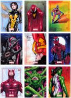 Marvel 75th Anniversary Sketch Cards by PeejayCatacutan