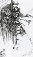 batman joker sketch by cloudkev