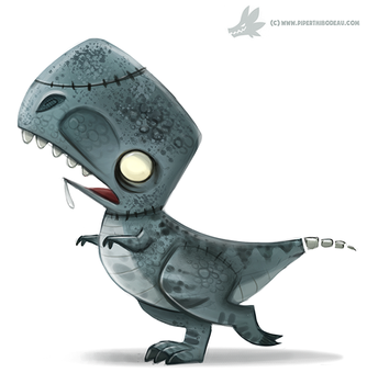 Daily Paint #1061. Zombie T-Rex by Cryptid-Creations