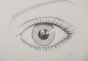 Realistic Eye Sketch by yanawookie