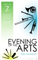 Evening of the Arts 2004 Postr by wastingtape