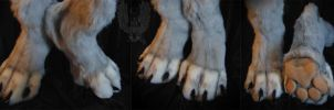Anthro feetpaws for Akersent. by SnowVolkolak