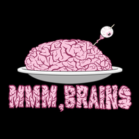 Mmm, Brains T-Shirt Design by TheCatlady