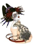 GEISHA WITH TATTOOED CAT by Zoe-Lacchei