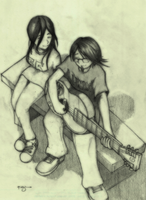 Koyuki and Maho (franz and kristal version) by faded-pencil