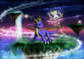Spyro in the world of time by YunakiDraw