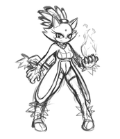 Blaze the Cat [Sketch] by CheloStracks