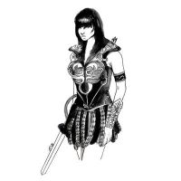 Xena Warrior Princess Art work by burntfeather