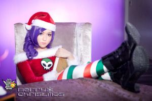 Zone-Tan Christmas Cosplay by aoandou