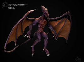 Ridley from Metroid by TheKaryuudo