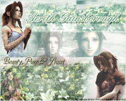Aerith Gainsborough by the-sparkling-light
