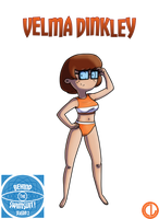Behind The Swimsuit 2016 Velma Dinkley by Chesty-Larue-Art