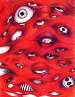River of eyes by GraveyardBat