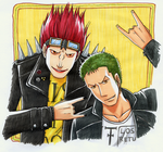 Ask Kid And Zoro by MichaelSilverleaf