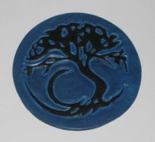 Night Tree Coaster - Dyed by ordineconfusus
