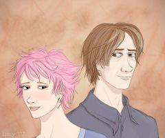 Tonks+Remus by Loony-Lucy