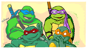 TMNT p-chat A Family Photo by theblindalley