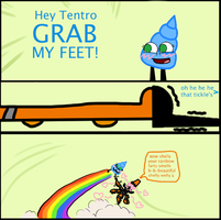 Hey Tentro Grab My Feet by thedrksiren