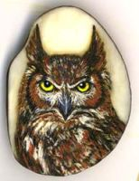 Detailed Owl on tagua by Foxfeather248