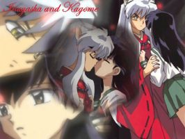 Inuyasha and Kagome First Kiss by InuyashaKagome12