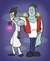 Mad Scientist and 'Son' by EarthVStheDerek