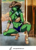 She Hulk 5 by Garrett Blair by Mythical-Mommy