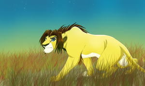 Maybe what Nala's dad should look like... by Otome-Subversiva
