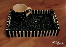 Mosaic tea-tray by bodaszilvia