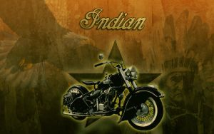 The indian Bike by michello1976