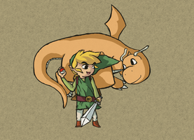 Toon Link and Dragonite + Code givaway! (Done) by Totallyhypnosquid