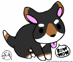 Bow Wow Puppy tri-colored by Midniteoil-Burning