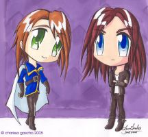June + Justine Chibis -jun2005 by Renah-Lily