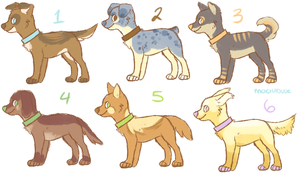 Puppy point adoptables (closed!) by MochaDude