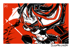 Red Ryuko by suzettecrepe
