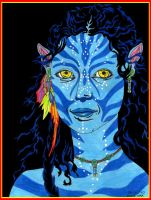 Self-portrait as a Na'vi by Falang