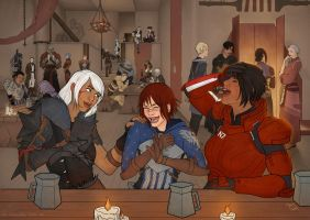 [Bioware] Three Protagonists Walk Into a Bar by PriscillaKim