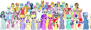 Twilight's Kingdom - Ponyville Residents by punzil504