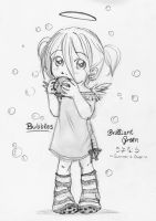Bubbles - pencil version by Shia-chan