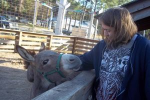 My picture with a donkey. by yeagerspace