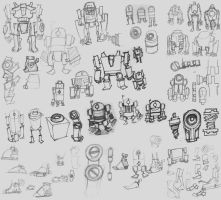 Robot Sketches by DeadXIII
