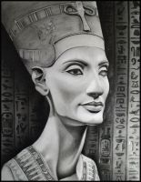 The bust of Queen Nefertiti by Skaughtt
