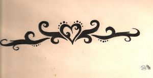 Heart Tattoo Design by fireasprin