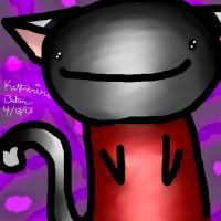 A Cat Drawn purely with a Mouse. Bow Before Me by The-Booboochus