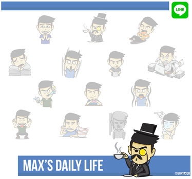 LINE Sticker : Max's Daily Life by SuryaSoo by SuryaSoo