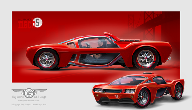 Mustang Mach 5 Concept by GaryCampesi